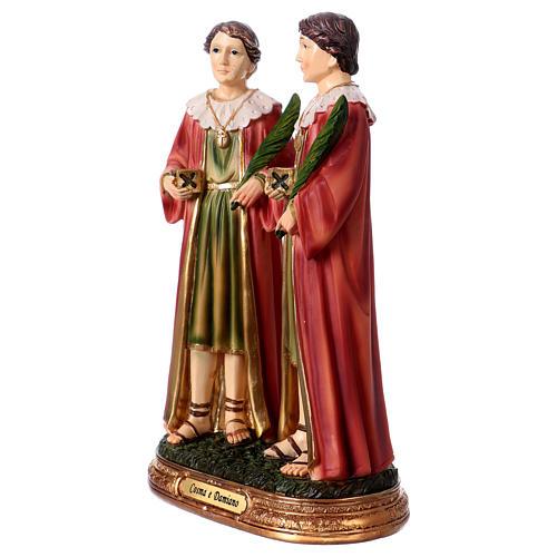 Côme et Damien statue 20 cm résine 2