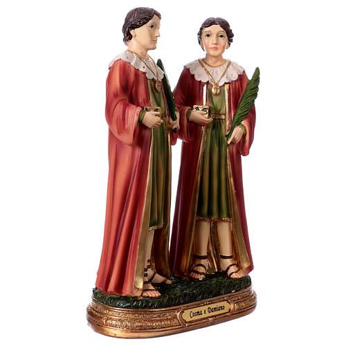 Côme et Damien statue 20 cm résine 3