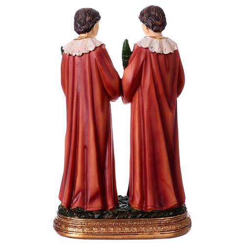 Côme et Damien statue 20 cm résine 4