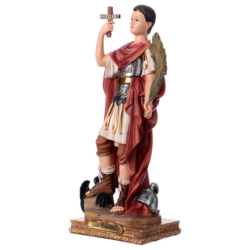San Espedito statua in resina h 30 cm 3