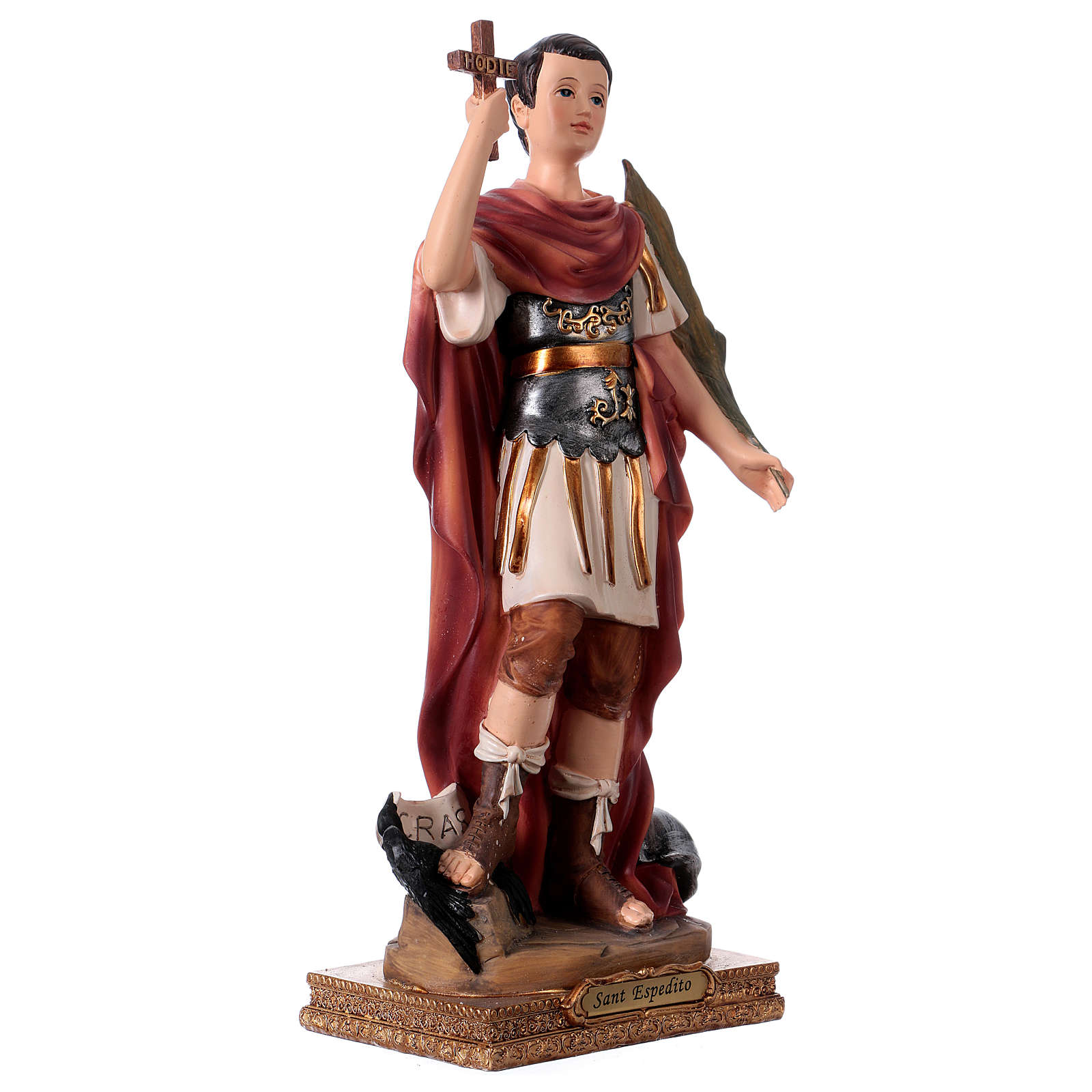 St Expedite statue in resin, h 30 cm 4