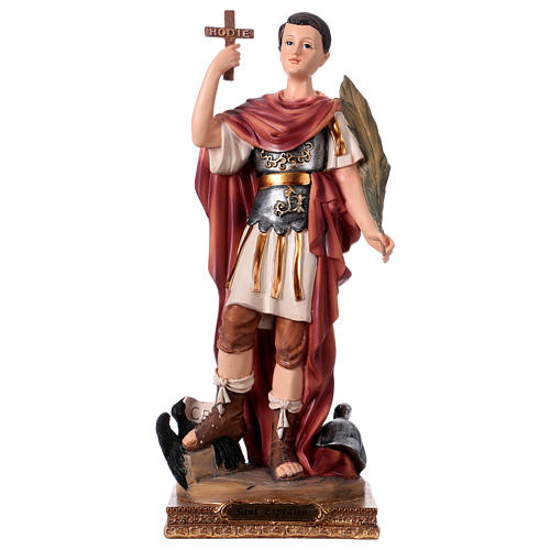 St Expedite statue in resin, h 30 cm 1