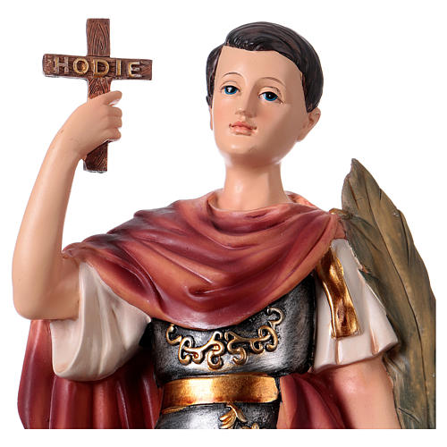 St Expedite statue in resin, h 30 cm 2