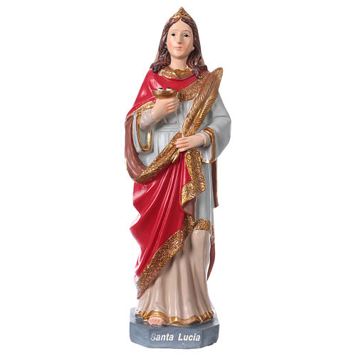 Sainte Lucie statue 20 cm résine 1