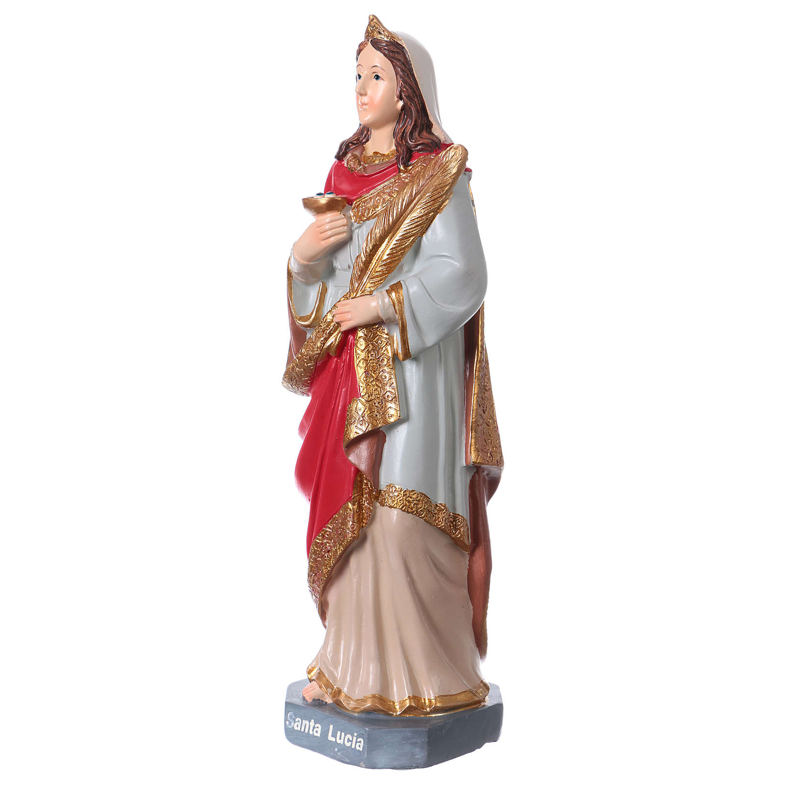 Santa Lucia statua 20 cm resina 4