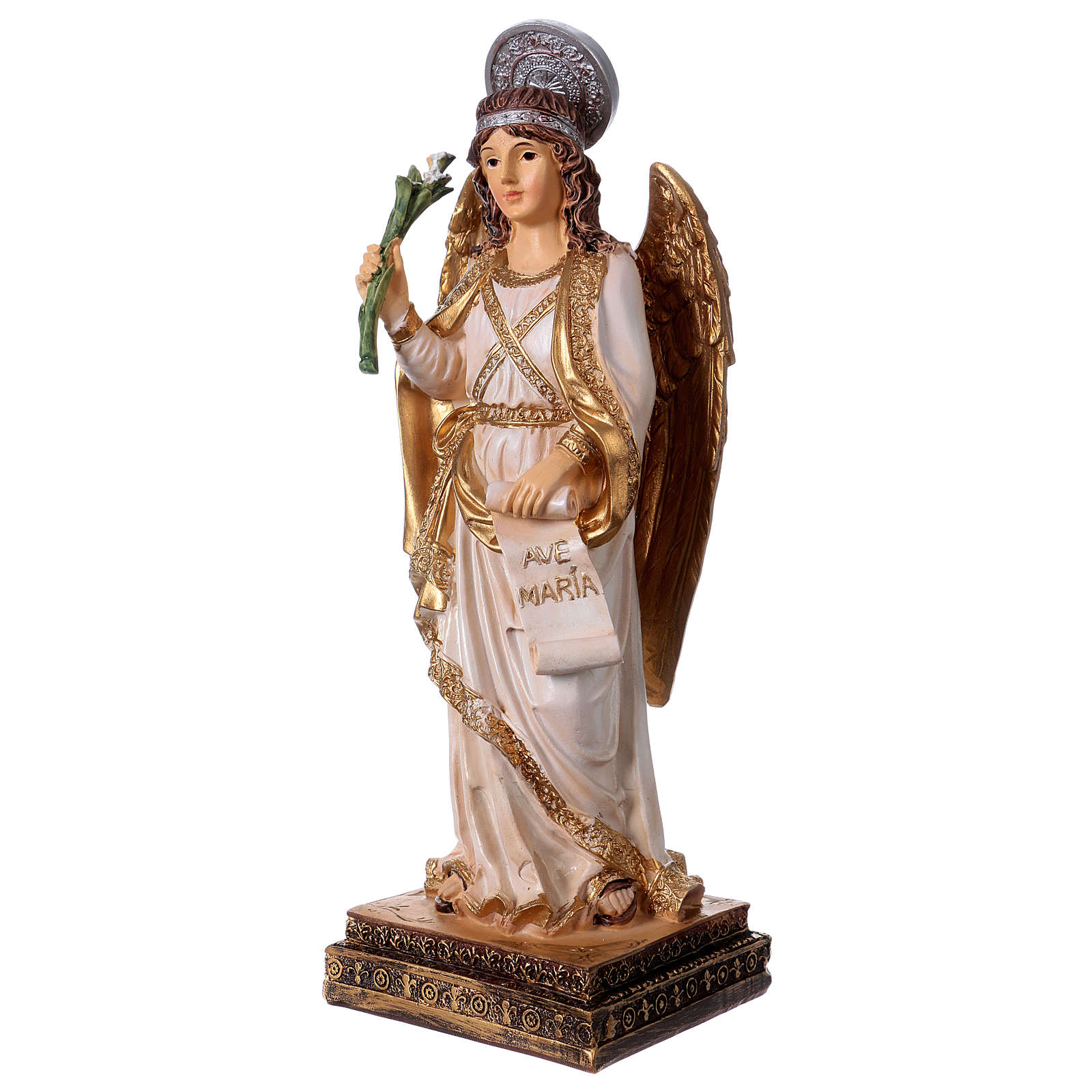 Archangel Gabriel statue in resin 20 cm 4