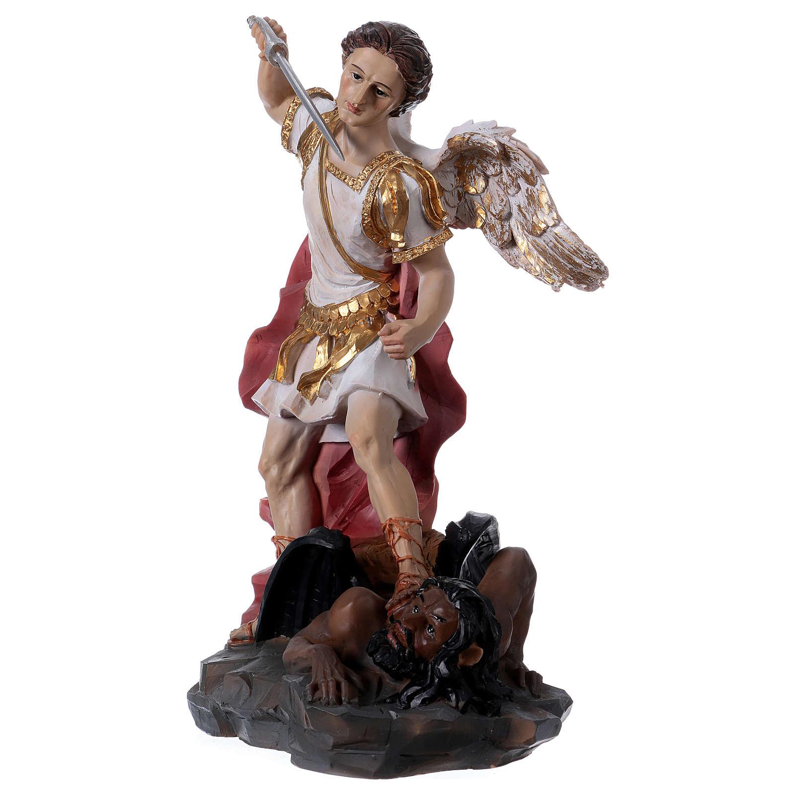 San Miguel Arcángel 30 cm resina 4