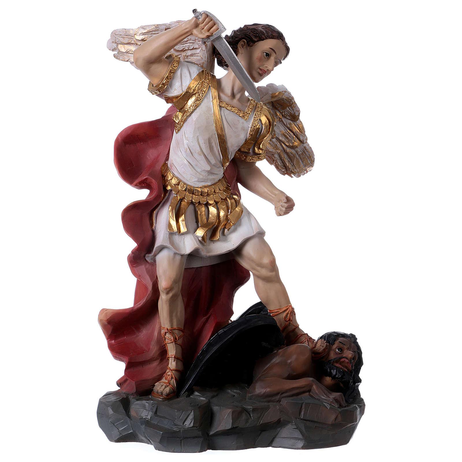 San Michele Arcangelo 30 cm resina 4