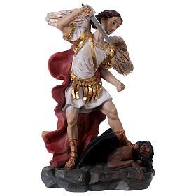 San Michele Arcangelo 30 cm resina s1