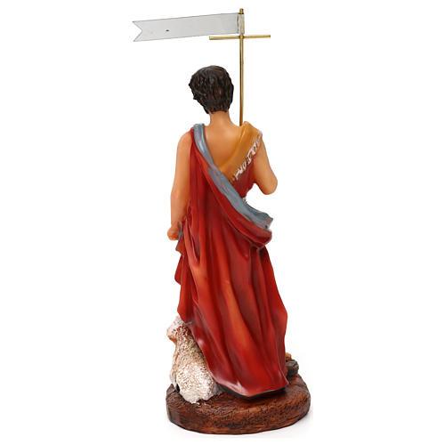 DRW Figura San Juan Bautista de Resina de 15 cm con Caja de Regalo con la Historia