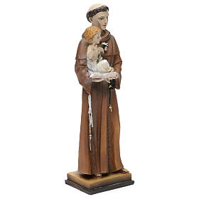 St. Anthony of Padua statue in resin 20 cm s3