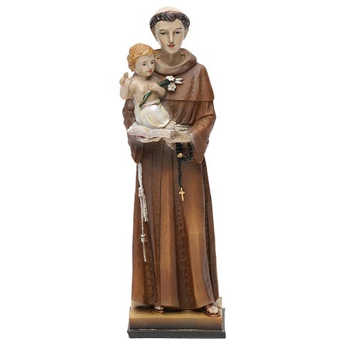 St. Anthony of Padua statue in resin 20 cm 1