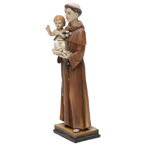 St. Anthony of Padua statue in resin 20 cm 2