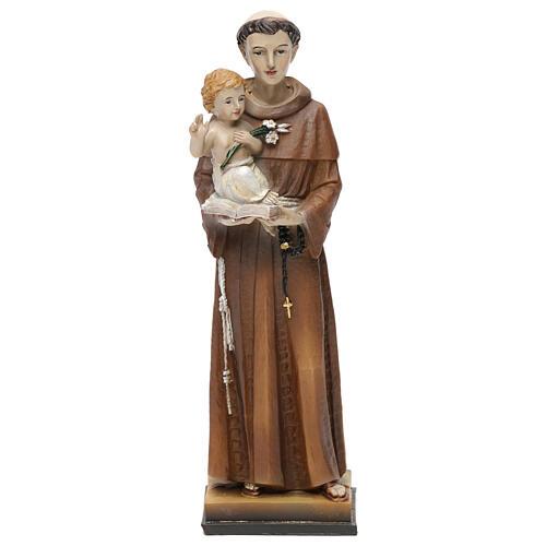 Santo António de Lisboa 20 cm imagem resina 1
