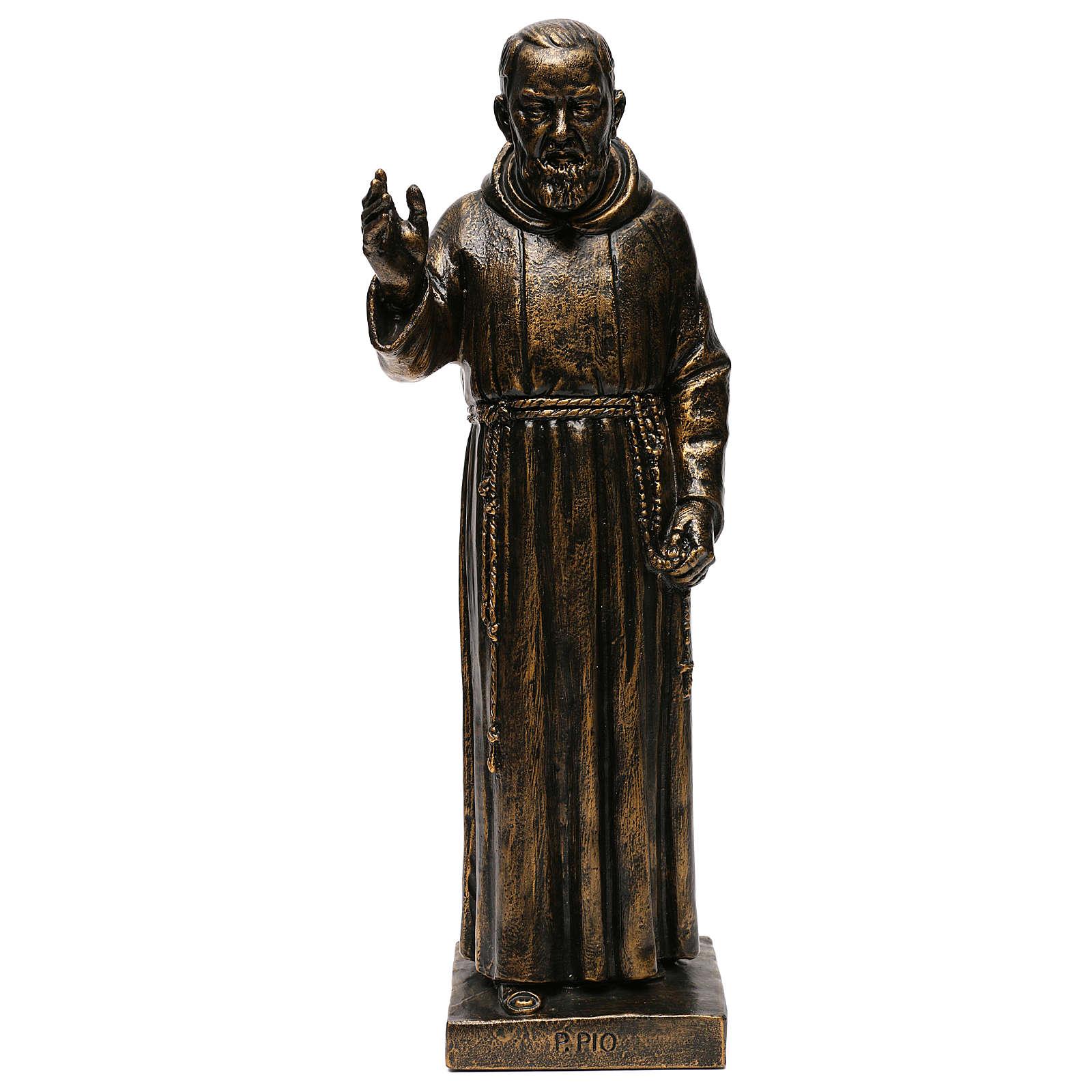 STOCK Estatua de San Pío de Pietralcina 50 cm resina Fontanini 4