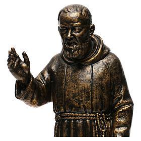 STOCK Estatua de San Pío de Pietralcina 50 cm resina Fontanini s2