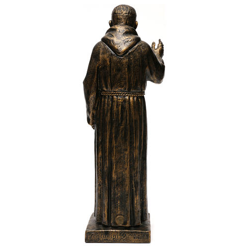 STOCK Estatua de San Pío de Pietralcina 50 cm resina Fontanini 5