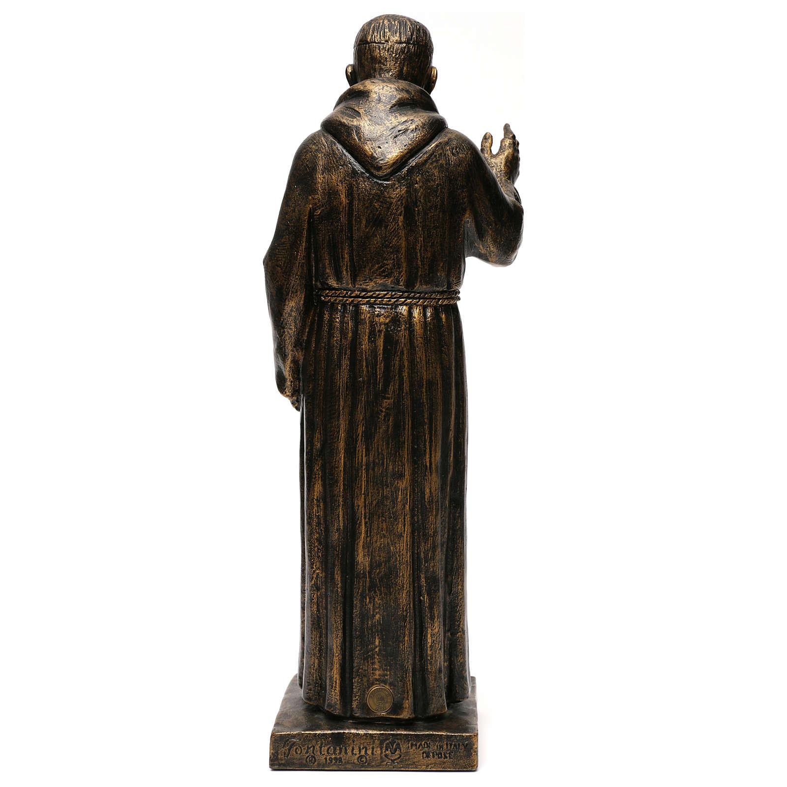 STOCK Statua di San Pio di Pietrelcina 50 cm resina Fontanini 4