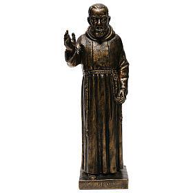 STOCK Statua di San Pio di Pietrelcina 50 cm resina Fontanini s1