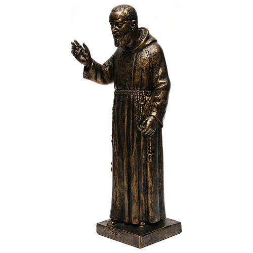 STOCK Statua di San Pio di Pietrelcina 50 cm resina Fontanini 3