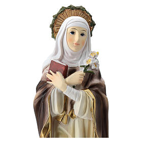 Estatua de Santa Caterina de Siena resina 20 cm s2