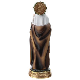 Estatua de Santa Caterina de Siena resina 20 cm s5