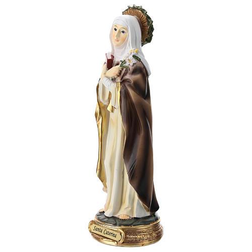 Estatua de Santa Caterina de Siena resina 20 cm 3