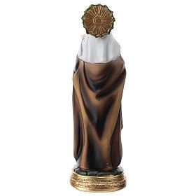 Statue de Sainte Catherine de Sienne résine 20 cm s5