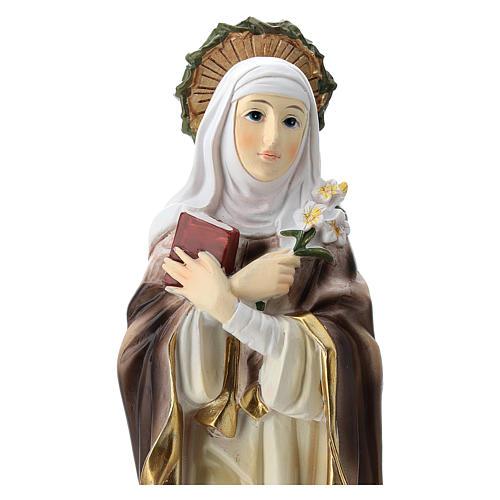 Statue de Sainte Catherine de Sienne résine 20 cm 2