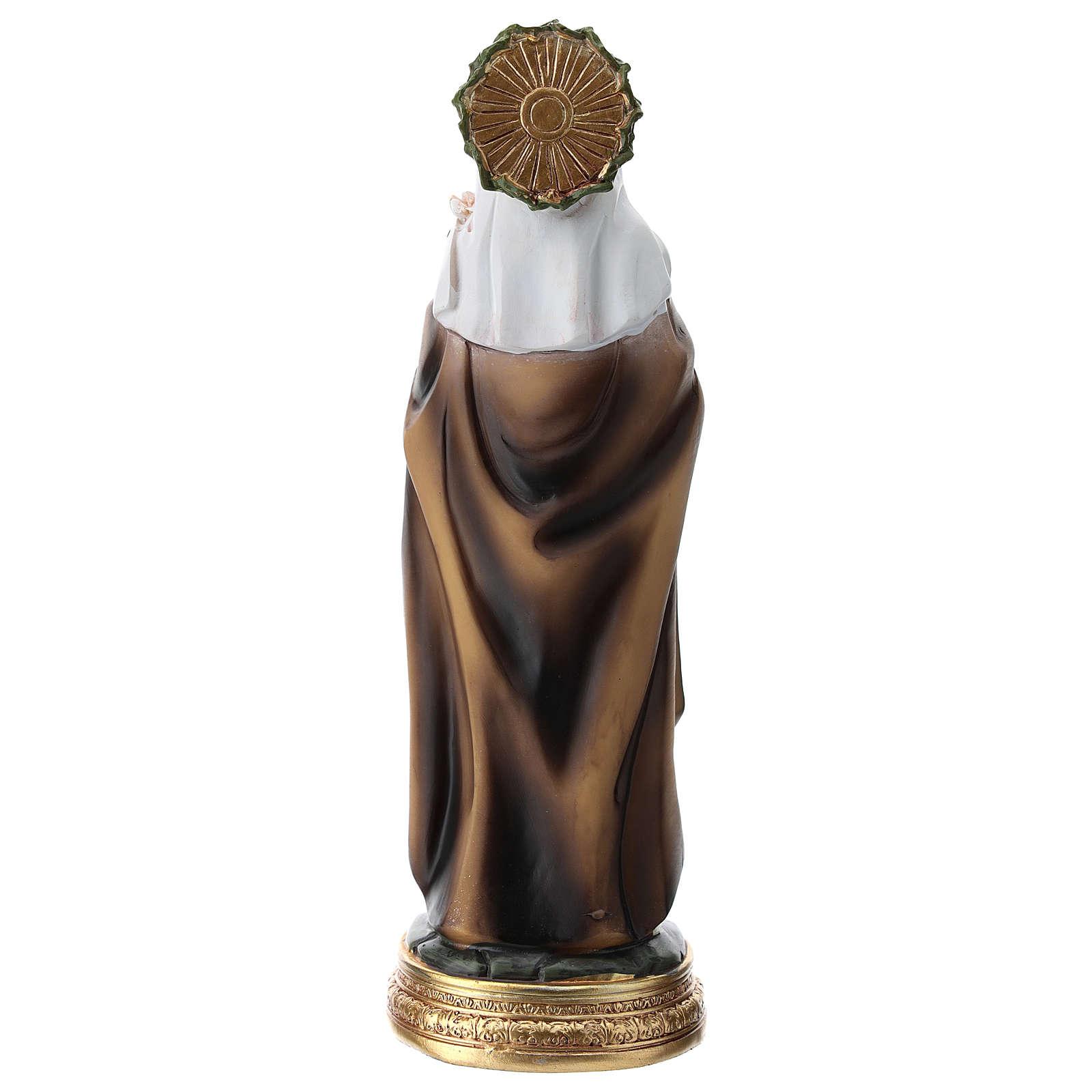 Statua di Santa Caterina da Siena resina 20 cm  4