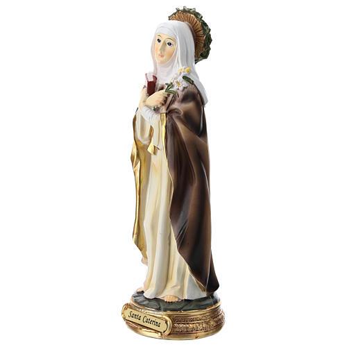 Figura Święta Katarzyna ze Sieny żywica 20 cm 3