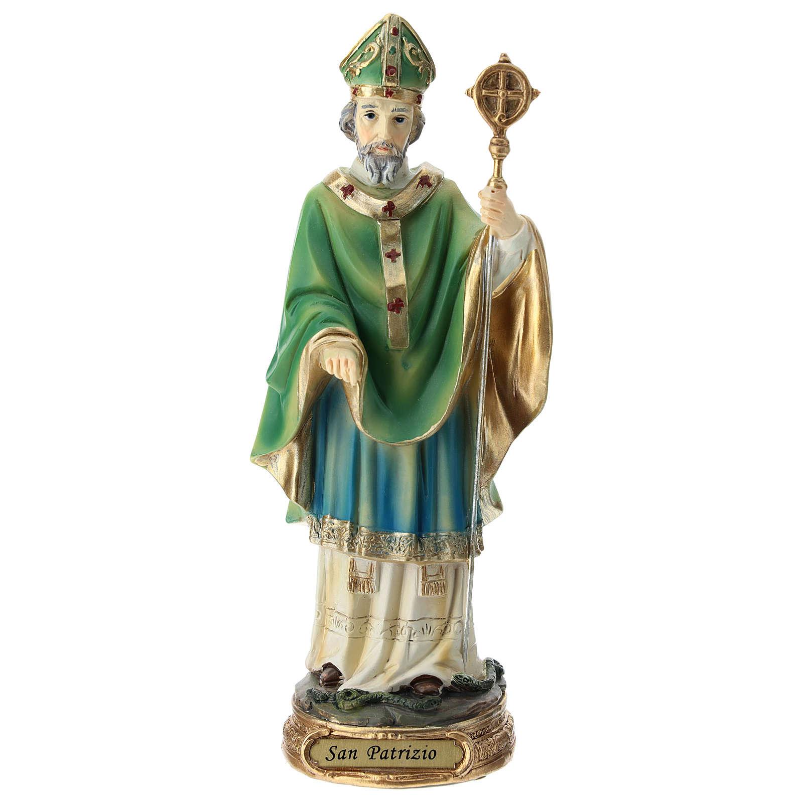Estatua San Patricio resina 20 cm 4