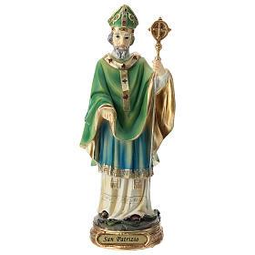 Estatua San Patricio resina 20 cm s1