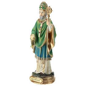 Estatua San Patricio resina 20 cm s3