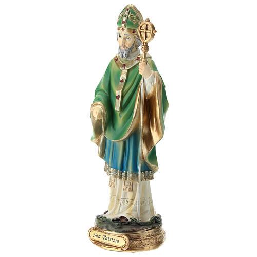 Estatua San Patricio resina 20 cm 3