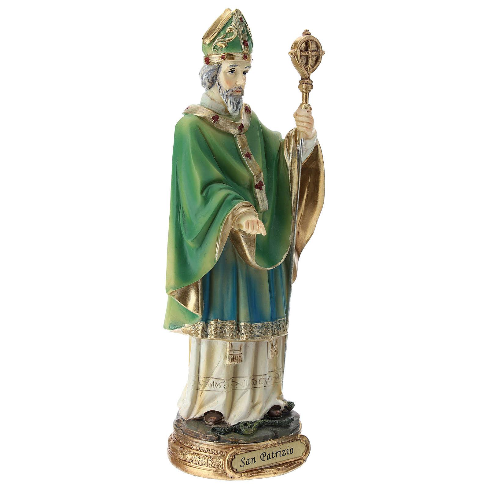 Statua San Patrizio resina 20 cm  4