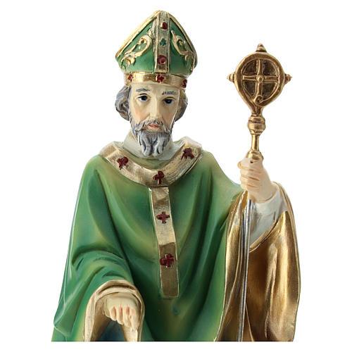 Statua San Patrizio resina 20 cm  2