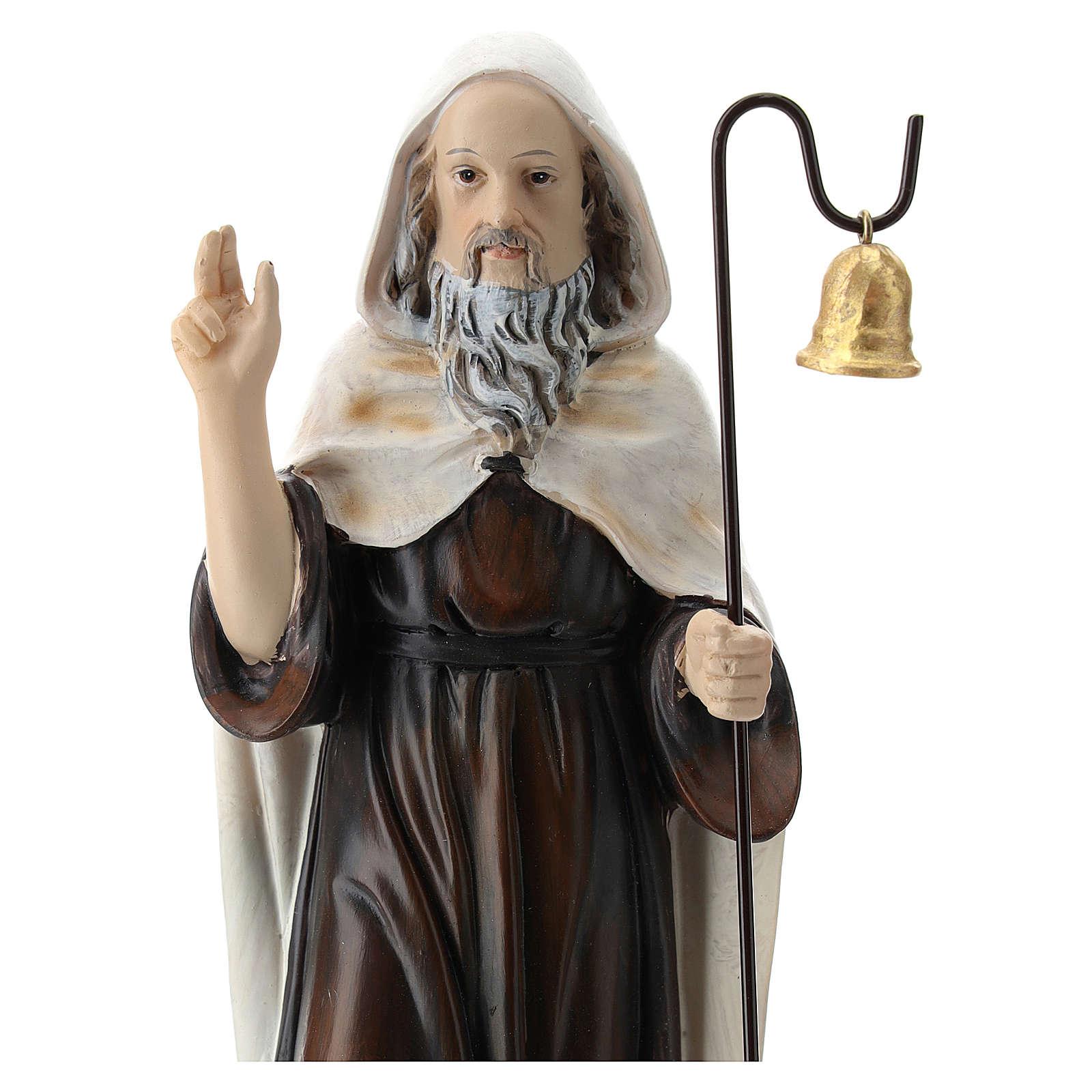 Sant'Antonio Abate resina 20 cm  4