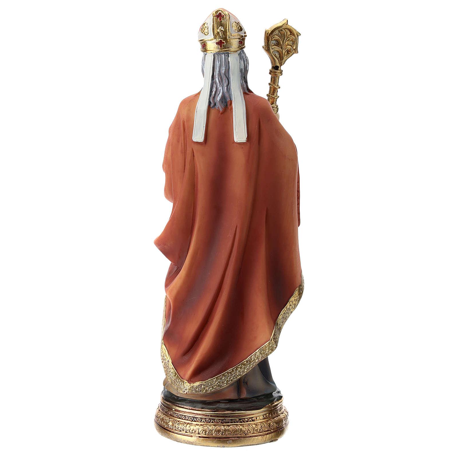Estatua resina San Nicolás 20 cm 4