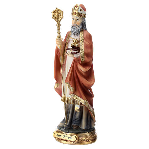 Estatua resina San Nicolás 20 cm 3
