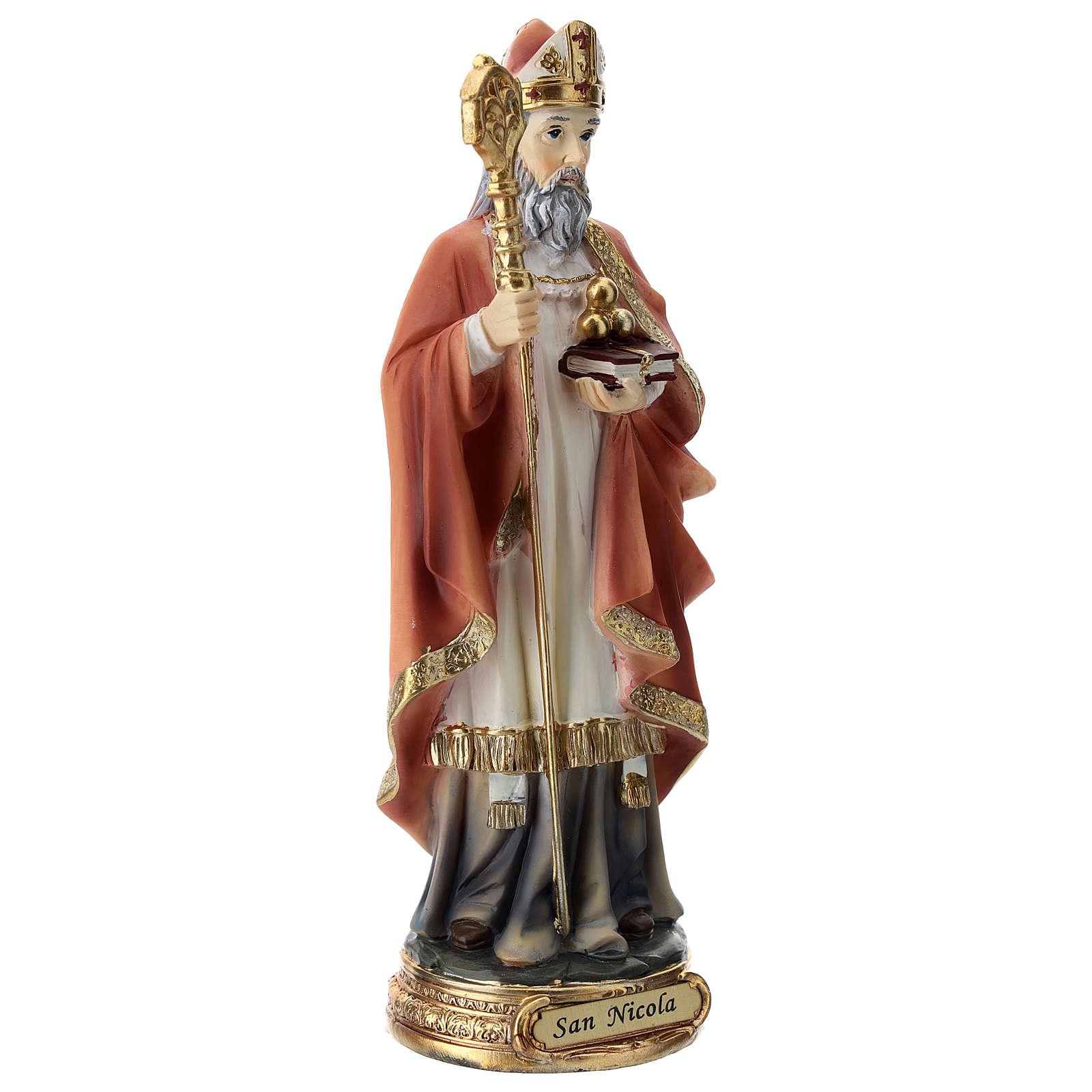 Statue résine Saint Nicolas 20 cm 4