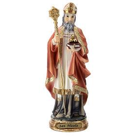Statua resina San Nicola 20 cm  s1