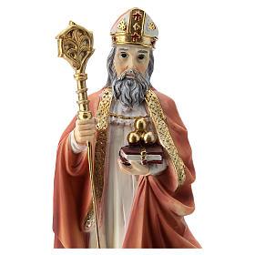 Statua resina San Nicola 20 cm  s2