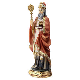 Statua resina San Nicola 20 cm  s3