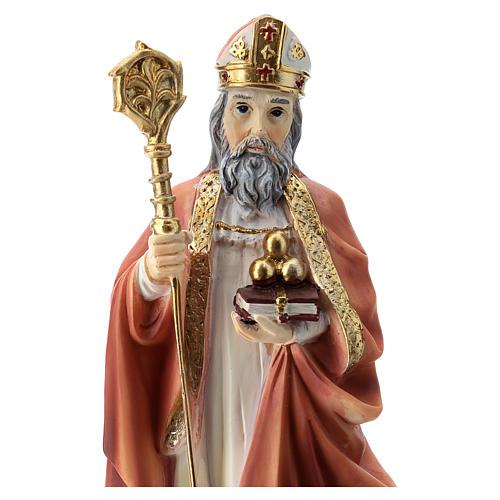 Statua resina San Nicola 20 cm  2
