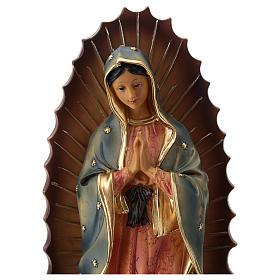 Nuestra Señora de Guadalupe estatua resina 30 cm s2