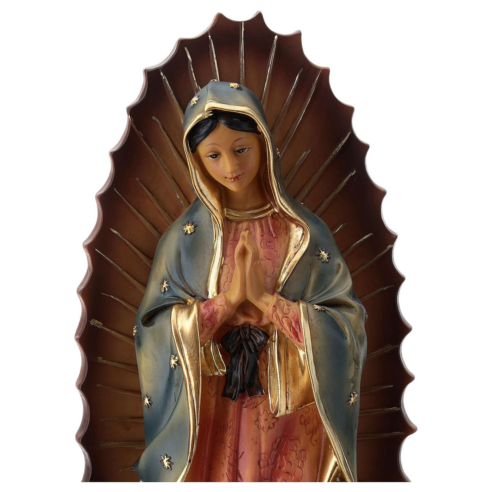 Nostra Signora di Guadalupe statua resina 30 cm  4