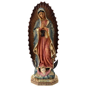 Resin & PVC statues: Virgin Mary of Guadalupe statue resin 30 cm