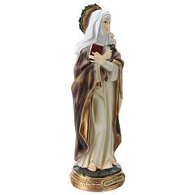Santa Caterina de Siena estatua resina 30 cm s4