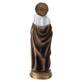 Santa Caterina de Siena estatua resina 30 cm s5